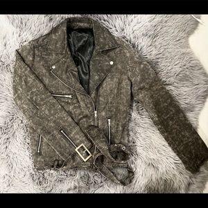 Grey Suede Motor Jacket